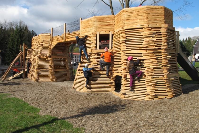 Original playground in České Švýcarsko
