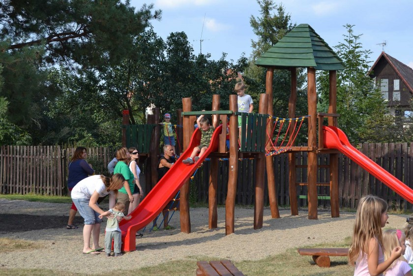 Opening of new playground in town Pátek, Czech Republic